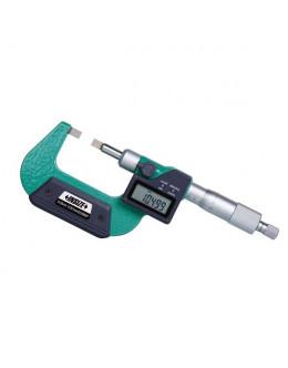 Digitální mikrometr s úzkými měřicími plochami 0-25 mm Insize