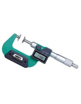Digitální třmenový mikrometr s nerotujícími talířkovými doteky INSIZE 0-25 mm